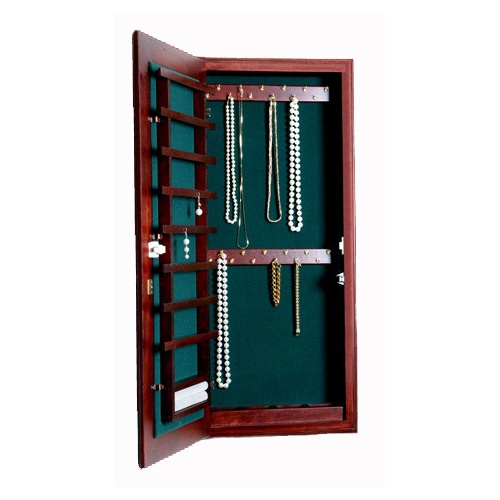 Small Wall Mounted Jewelry Cabinet Keyed Lock In Jewelry