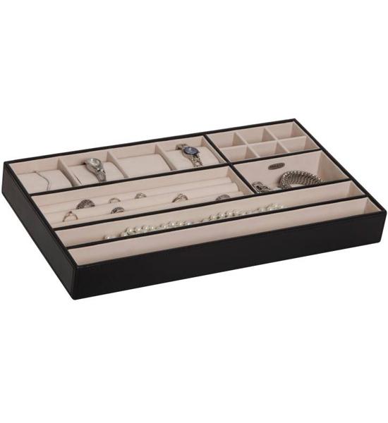 Jewelry Organizer Tray Faux Leather In Jewelry Trays