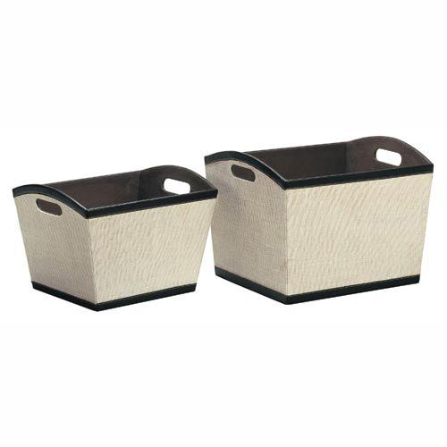 Jute Decorative Storage Baskets In Shelf Bins