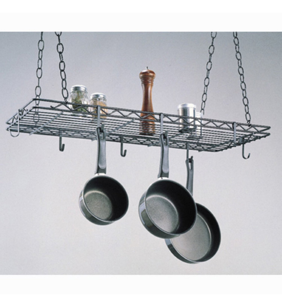 Kitchen hanging pot rack in hanging pot racks for Pot racks for kitchen