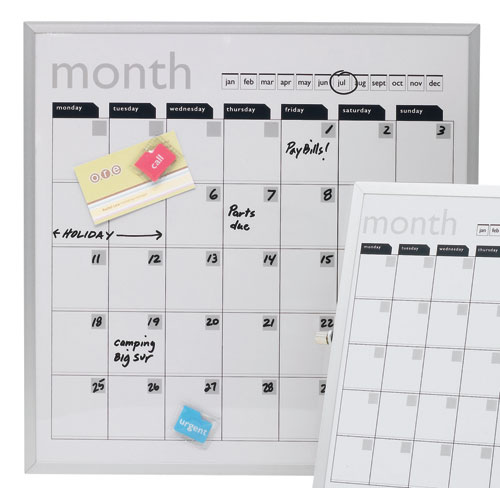 Dry Erase Calendar Magnetic : Magnetic dry erase board wall calendar in calendars and