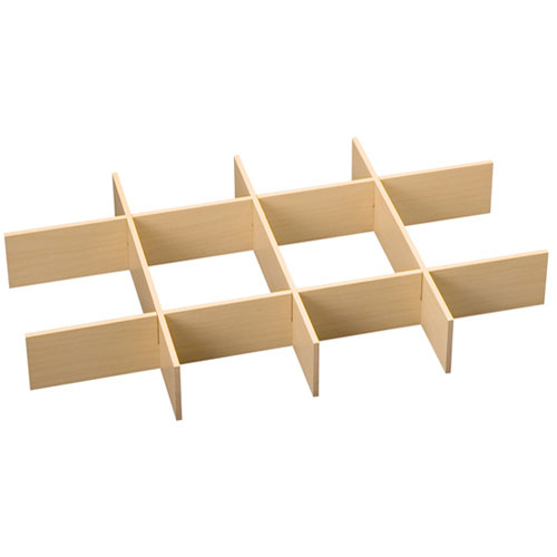 Freedomrail o box wood drawer dividers maple in