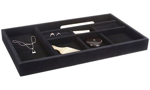 black velvet jewelry organizer inch wide in