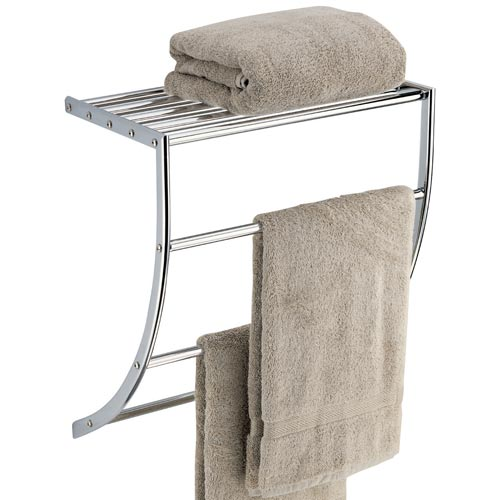 curved towel bar with shelf in wall towel racks. Black Bedroom Furniture Sets. Home Design Ideas