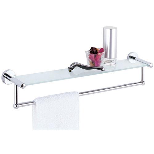 glass shelf and towel rack in wall towel racks. Black Bedroom Furniture Sets. Home Design Ideas