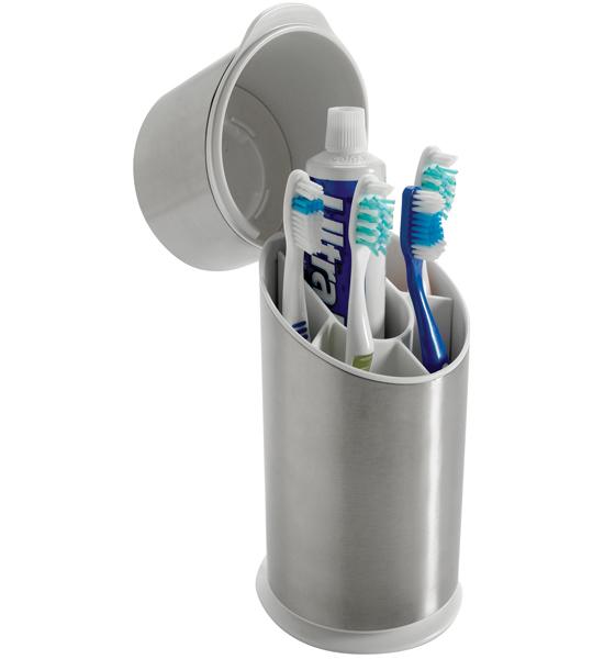 Oxo Stainless Steel Toothbrush Holder In Toothbrush Holders