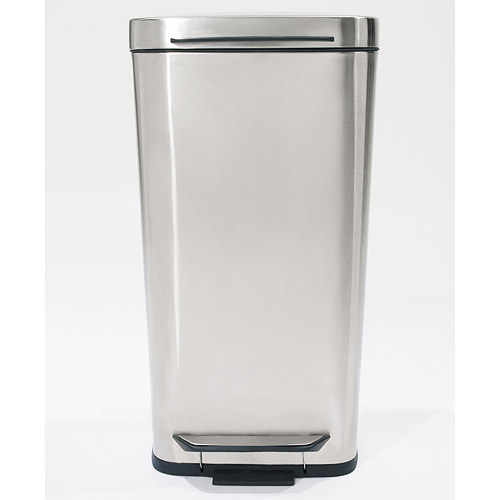 Oxo Stainless Steel Trash Can: OXO Brushed Stainless Steel Trash Can In Stainless Steel