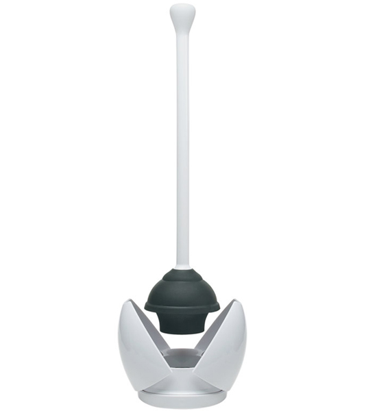 oxo toilet plunger with stand in toilet plungers and brushes. Black Bedroom Furniture Sets. Home Design Ideas