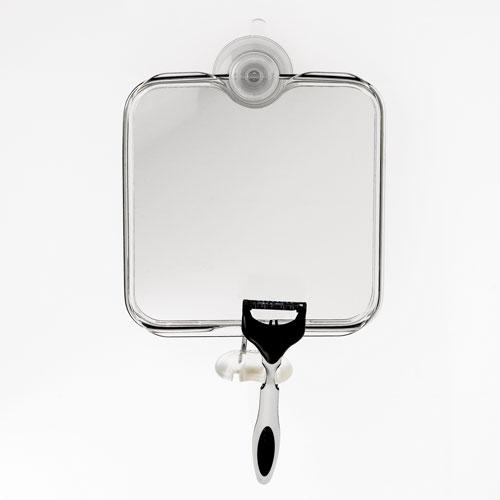 Bathroom suction mirror