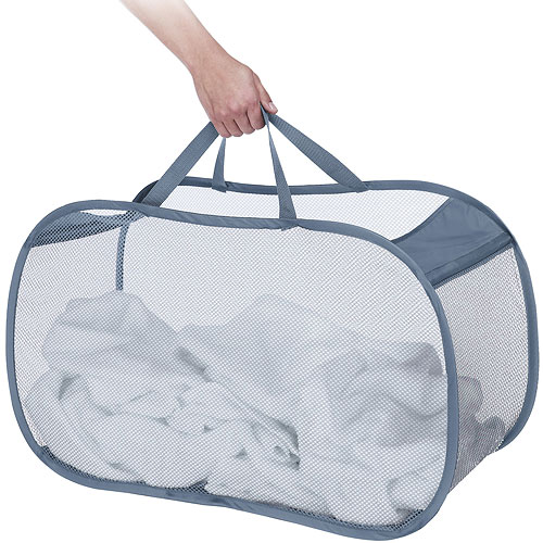 Pop And Fold Mesh Laundry Basket In Mesh Laundry Bags