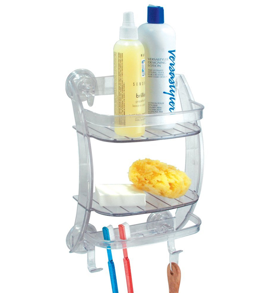 power lock suction shower organizer in suction organizers