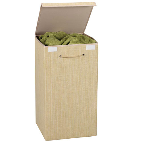 Collapsible resin wicker laundry hamper in clothes hampers - Wicker clothes hamper ...