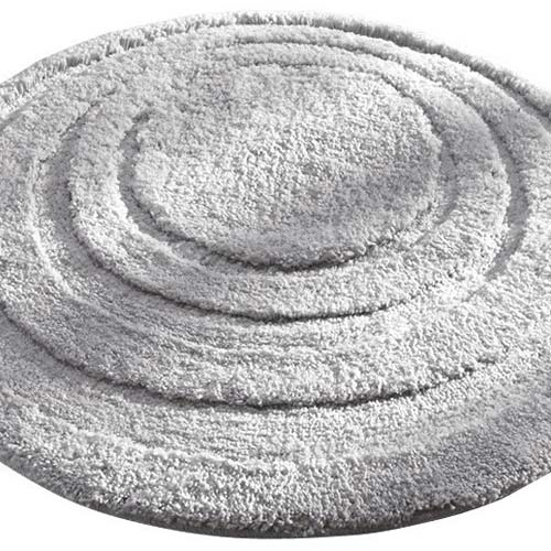Round Microfiber Spa And Bath Rug Gray In Kids Bath