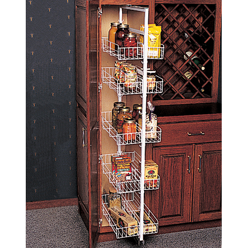 Pantry roll out storage system in pull out pantry organizers - Roll out shelving for pantry ...