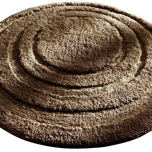 Round Microfiber Spa And Bath Rug Chocolate In Accent Rugs