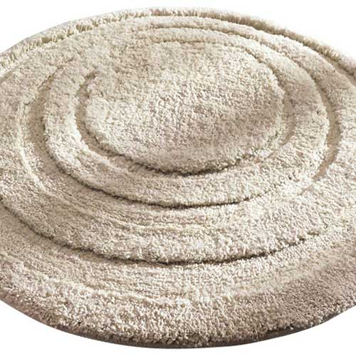 Round Microfiber Spa And Bath Rug Linen In Kids Bath