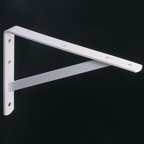 12 Inch Heavy Duty Shelf Bracket - White in Closet Rods & Brackets