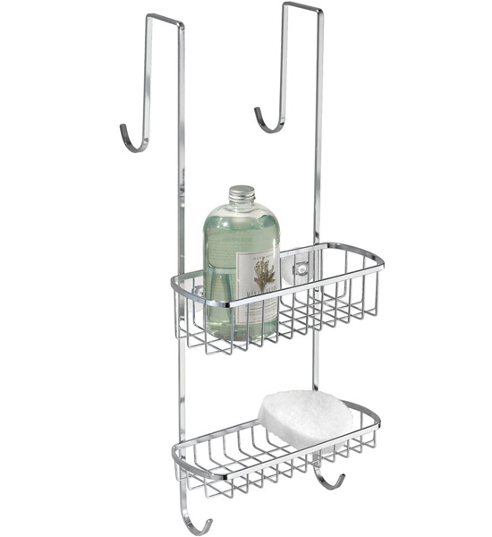 Stainless Steel Shower Door Organizer In Shower Caddies