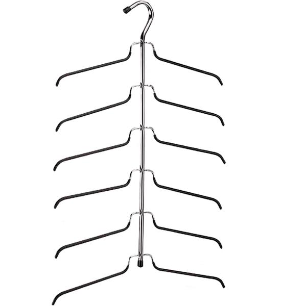 Six Tier Blouse Hanger In Wire Hangers