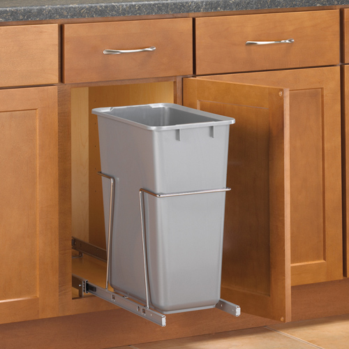 pull out cabinet trash can 30 quart in cabinet trash cans kitchen trash cans in cabinet home design ideas