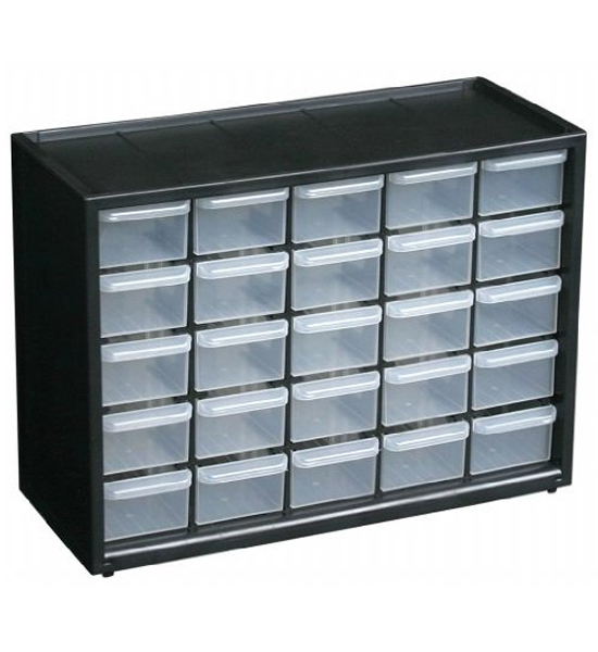 Small parts organizer 25 drawer in small parts storage for Utensil organizer for small drawers