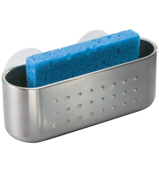 Stainless Suction Cup Sponge Holder In Sink Organizers