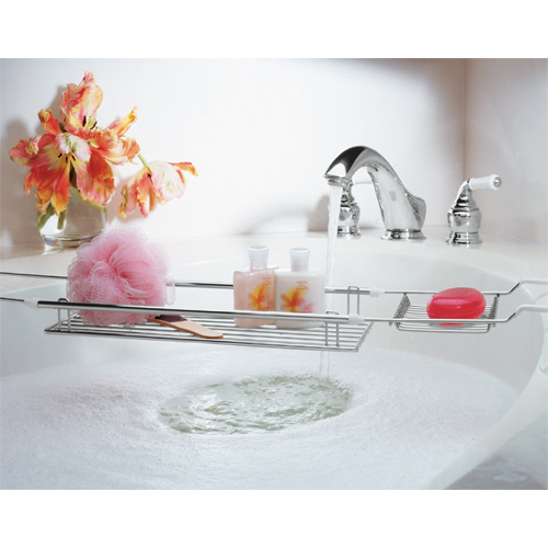 expandable bathtub caddy chrome in tub caddies and