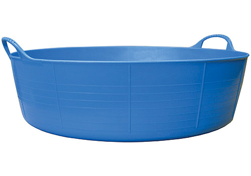 Large Utility Tub : ... Storage Tubs and Buckets > Large Shallow Tubtrugs Storage Tub - Blue
