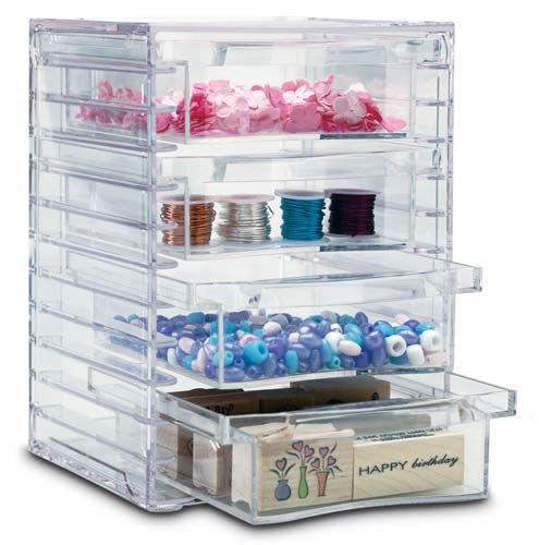 Four-Drawer Acrylic Storage Chest in Craft Storage