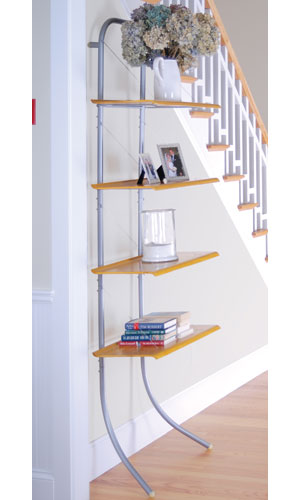 decorative display four shelf unit in free standing shelves. Black Bedroom Furniture Sets. Home Design Ideas