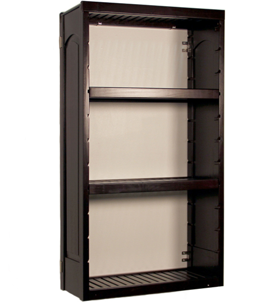 wall mounted storage shelves woodcrest in ventilated. Black Bedroom Furniture Sets. Home Design Ideas
