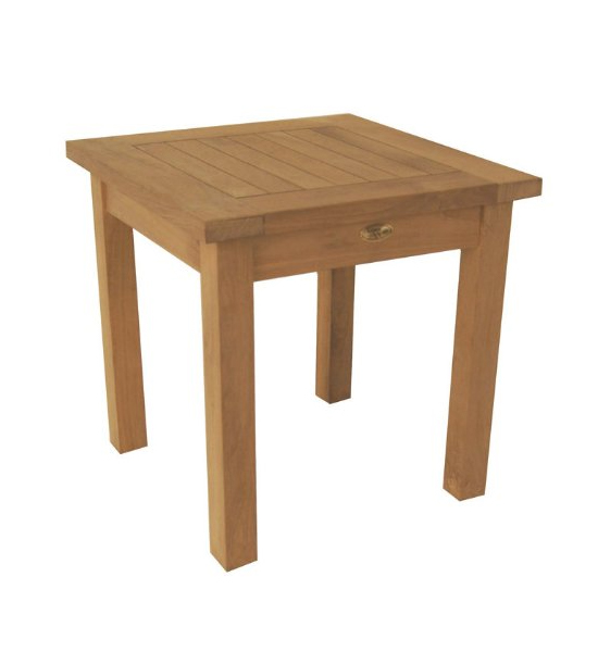 Wood Side Table in Patio Side Tables
