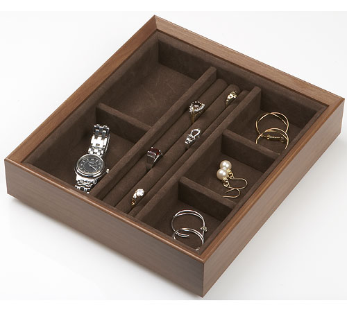 Wood Jewelry Organizer Rings And Things In Jewelry Trays
