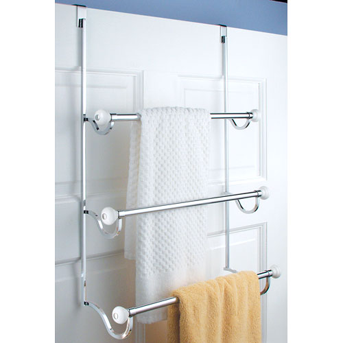 York Over Door Three Tier Towel Rack In Over The Door Towel Racks
