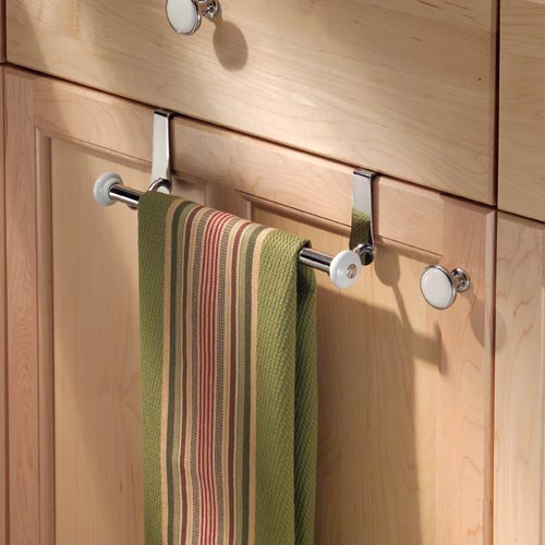 york cabinet towel bar in kitchen towel holders