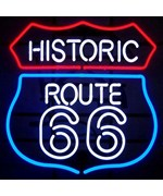 Historic Route 66 Neon Sign by Neonetics