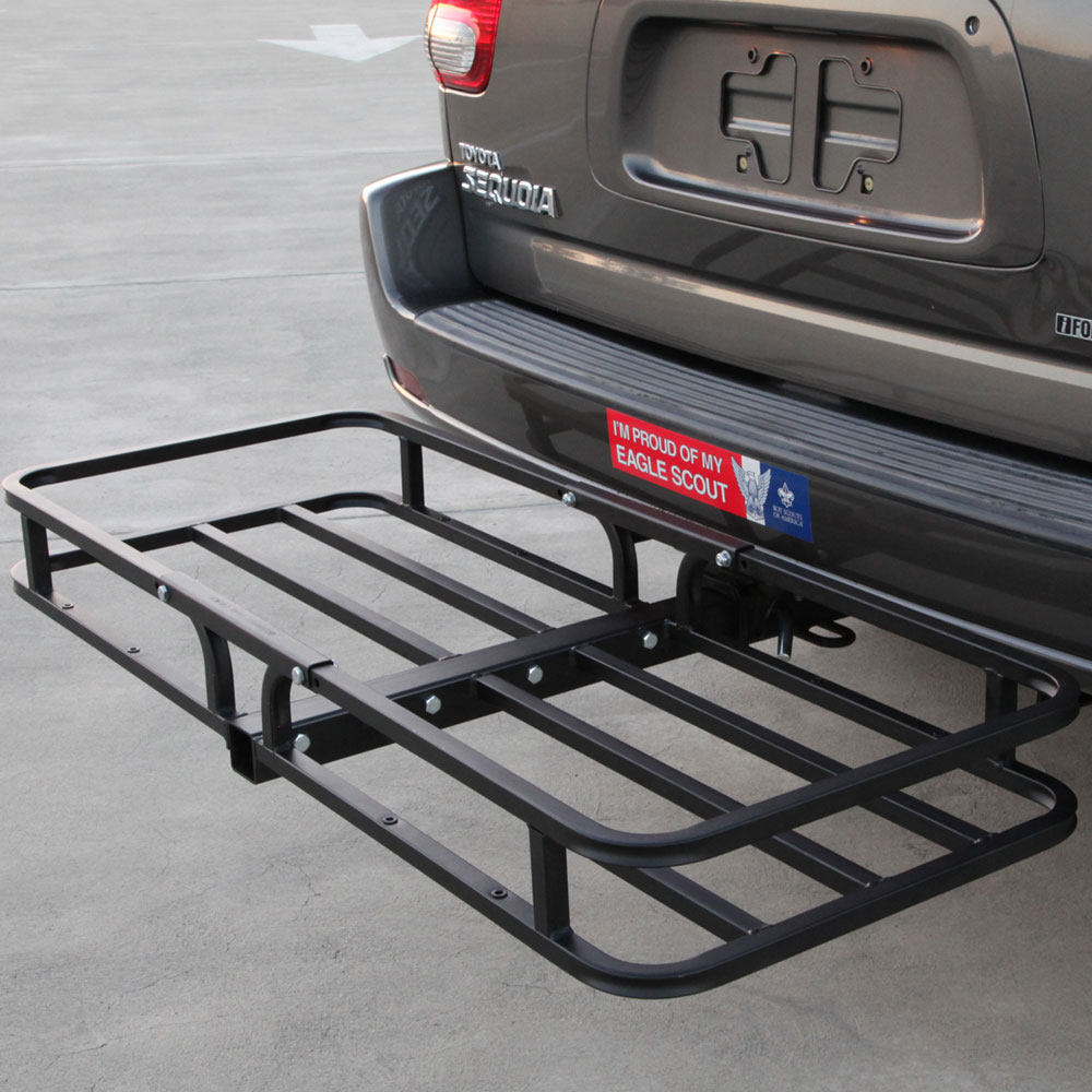 Hitch Mounted Cargo Carrier Rooftop Carrier In Car Racks