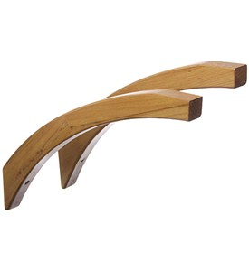 16 Inch Angled Wood Shelf Brackets - Honey Maple (Set of 2) Image
