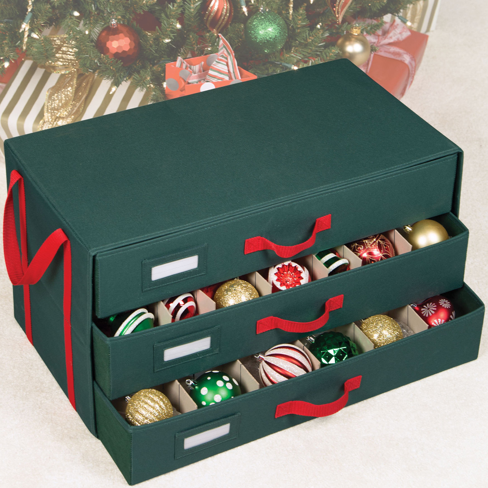 Delightful Holiday Ornament Storage Box Image