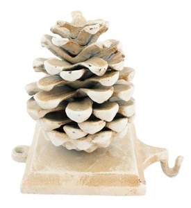 Holiday Stocking Hanger - Pinecone Image
