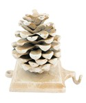 Holiday Stocking Hanger - Pinecone