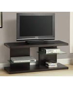 Hollow Core 48 Inch L TV Console by Monarch Specialties