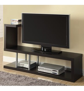 Hollow-Core 60 Inch L TV Console by Monarch Specialties Image