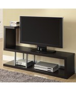 Hollow-Core 60 Inch L TV Console by Monarch Specialties