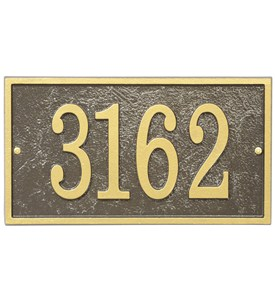 Home Address Plaque - Rectangle - Fast and Easy Image