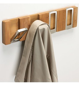 Rectangle Flip Hook Coat Rack - Bamboo Image