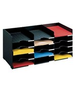 Horizontal Desk Organizer - 15 Compartments
