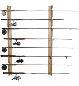 Horizontal Fishing Rod Storage Rack Image