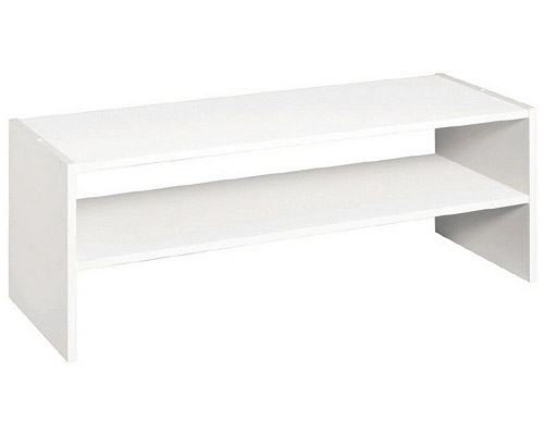 Wood Laminate Horizontal Storage Shelves   White Image