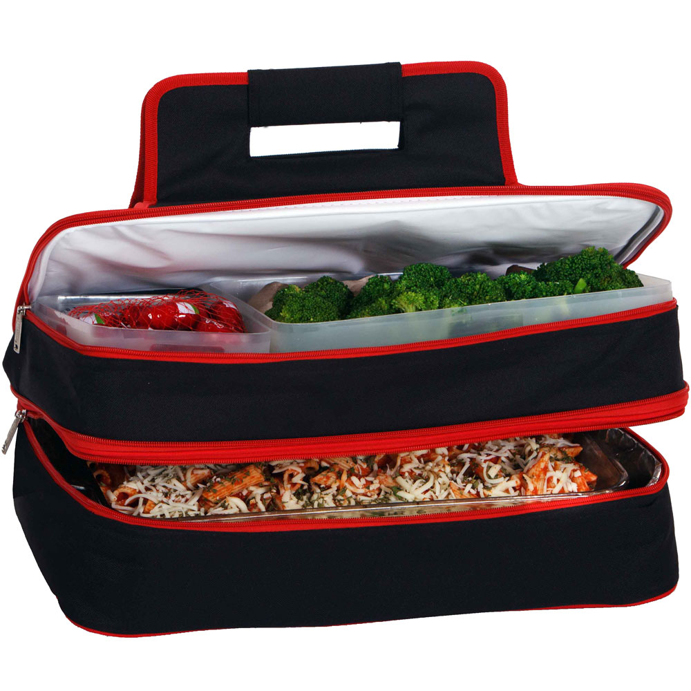 hot and cold food carrier in picnic